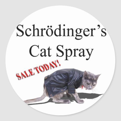 Schrodingercat Round Stickers