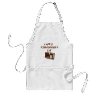 schrodinger's cat adult apron