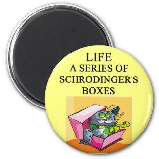 schrodinger's cat box joke magnet