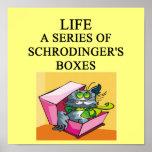schrodinger's cat box joke poster