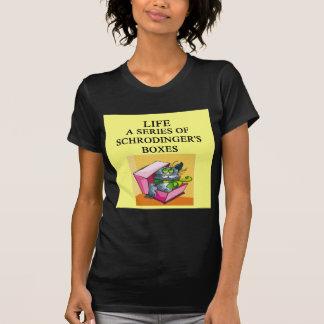 schrodinger's cat box joke t shirts