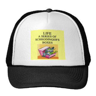 schrodinger's cat box joke trucker hat