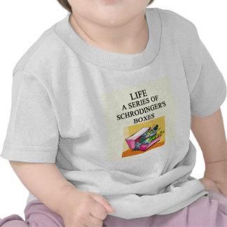 schrodinger's cat box joke tee shirts