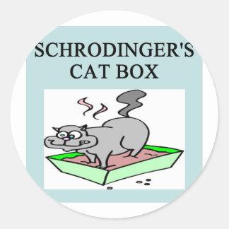 schrodinger's cat box stickers