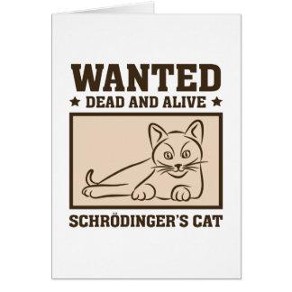 Schrodinger's Cat Card