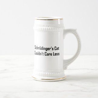 Schrodinger's Cat Couldn't Care Less 18 Oz Beer Stein