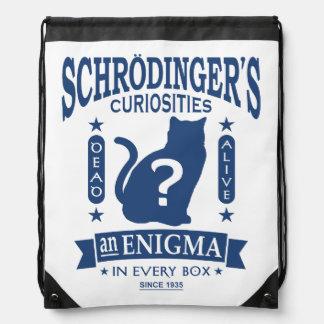 Schrodinger's Cat Dead or Alive Quantum Mechanics Cinch Bag