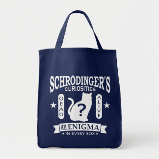Schrodinger's Cat Dead or Alive Quantum Mechanics Grocery Tote Bag