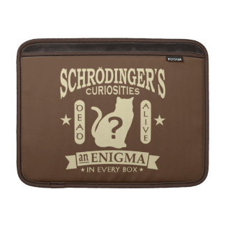 Schrodinger's Cat Dead or Alive Quantum Mechanics MacBook Sleeve