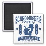 Schrodinger's Cat Dead or Alive Quantum Mechanics 2 Inch Square Magnet