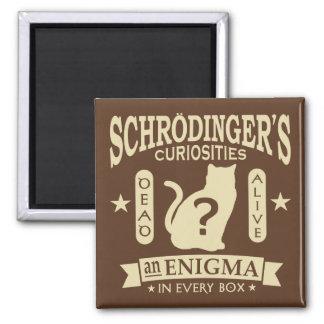 Schrodinger's Cat Dead or Alive Quantum Mechanics Fridge Magnets