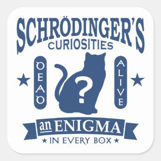 Schrodinger's Cat Dead or Alive Quantum Mechanics Square Sticker