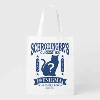 Schrodinger's Cat Dead or Alive Quantum Mechanics Reusable Grocery Bags