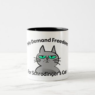 Schrodinger's Cat Funny Geek Humor Two-Tone Coffee Mug