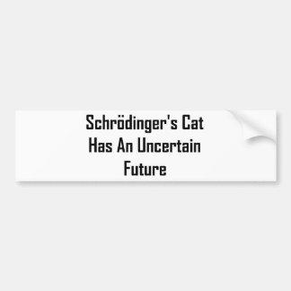 Schrodinger's Cat Has An Uncertain Future Bumper Sticker