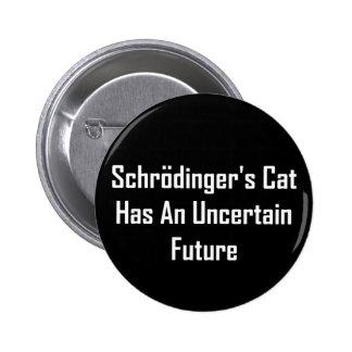 Schrodinger's Cat Has An Uncertain Future Pinback Button