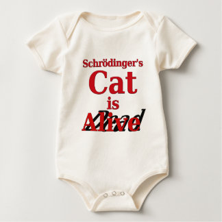 Schrodinger's Cat is Alive Dead Baby Bodysuit