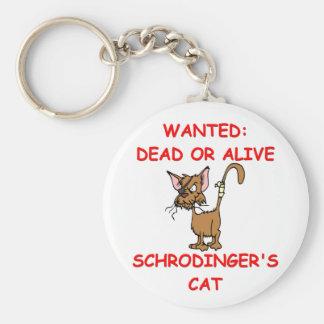 schrodinger's cat joke keychains