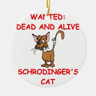 schrodinger's cat joke ornaments