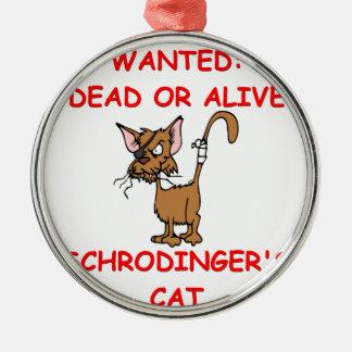 schrodinger's cat joke christmas tree ornament