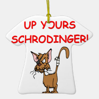 schrodinger's cat joke ornament