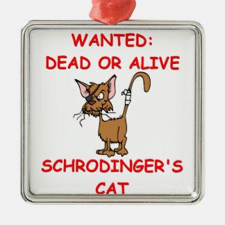 schrodinger's cat joke christmas ornaments