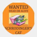 schrodinger's cat joke sticker