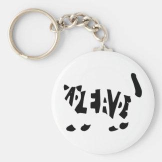 Schrödinger's cat basic round button keychain