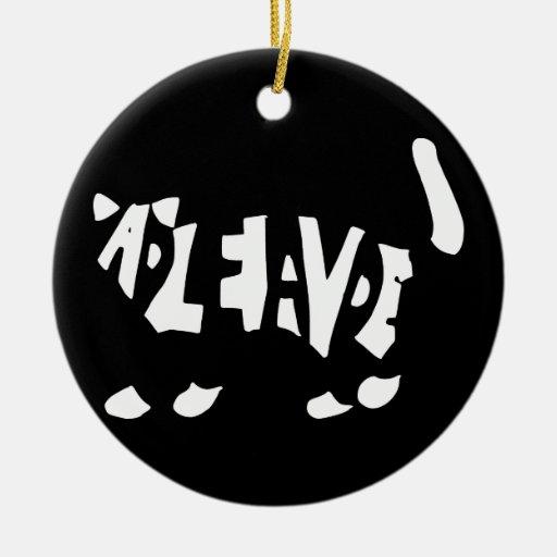 Schrödinger's cat Double-Sided ceramic round christmas ornament