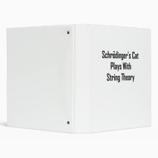 Schrodinger's Cat Plays With String Theory 3 Ring Binder