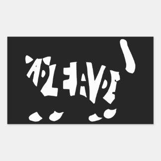 Schrödinger's cat rectangular sticker