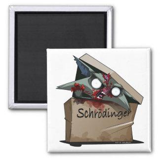 Schrödinger's Cat Solution 2 Inch Square Magnet