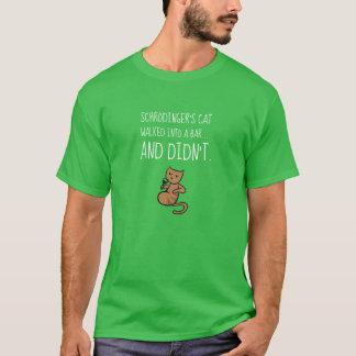 Schrödinger's Cat Walked Into a Bar Bright Green T-Shirt