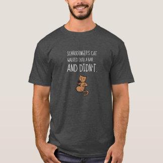 Schrödinger's Cat Walked Into a Bar Heather Gray T-Shirt