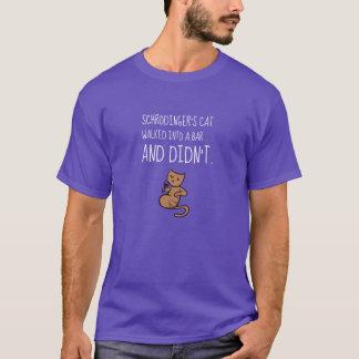 Schrödinger's Cat Walked Into a Bar Purple T-Shirt