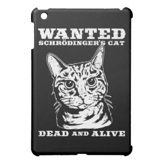 Schrodinger's cat wanted dead and alive case for the iPad mini