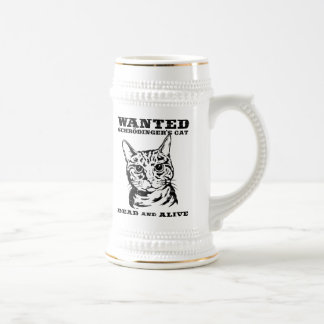 Schrodinger's cat wanted dead or alive 18 oz beer stein