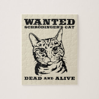 Schrodinger's cat wanted dead or alive jigsaw puzzle
