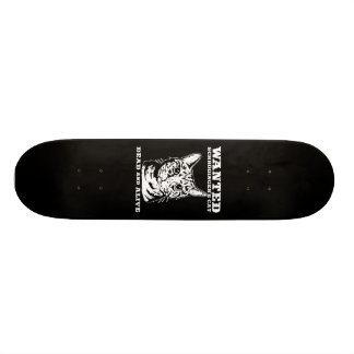 Schrodinger's cat wanted dead or alive skateboard