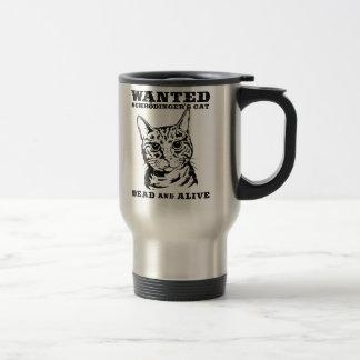 Schrodinger's cat wanted dead or alive travel mug