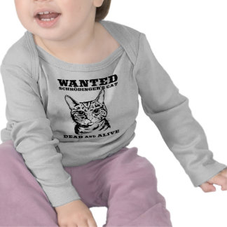 Schrodinger's cat wanted dead or alive tshirts