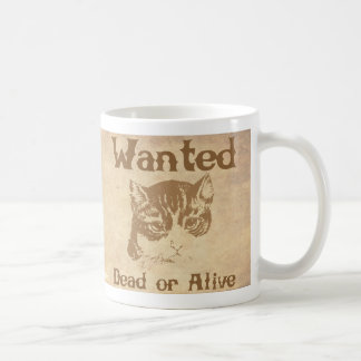 Schrodinger's Cat Wanted Poster Coffee Mug
