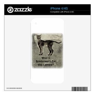 schrodingers cat zombie iPhone 4S decal
