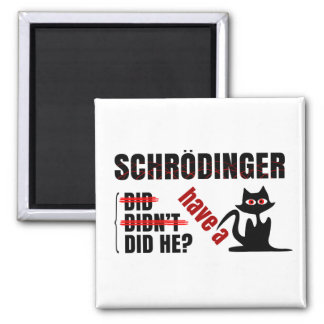 Schrodinger's Dillema 2 Inch Square Magnet