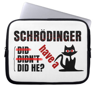 Schrodinger's Dillema Laptop Computer Sleeves