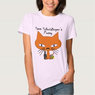 Schrodingers Pussy black text Tshirts