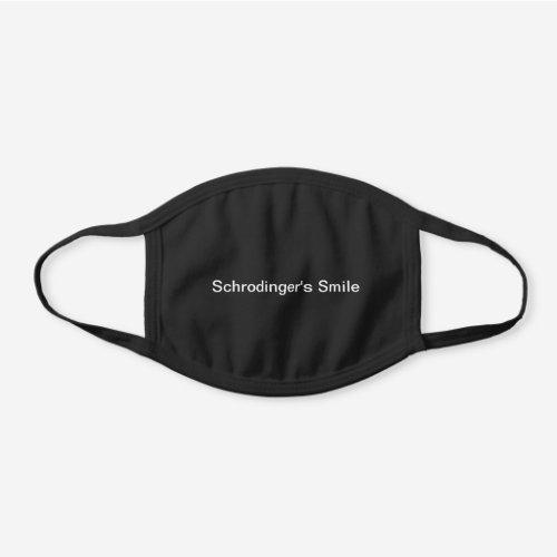 Schrodinger's Smile face mask