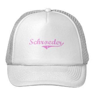 Schroeder Last Name Classic Style Trucker Hat