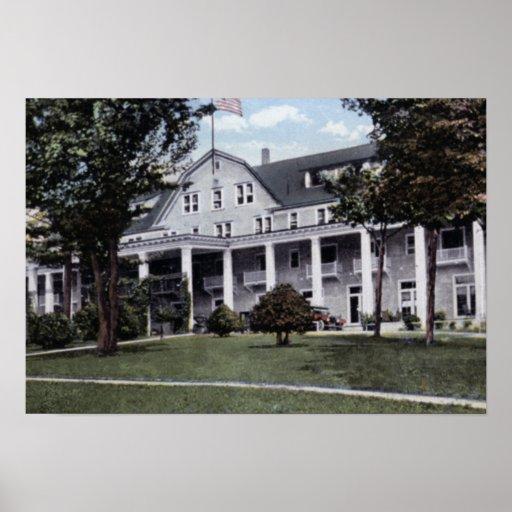 Schroon Lake New York Leland House Print