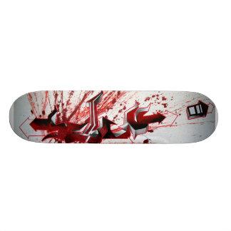 Schu Red graffiti Skateboard Deck